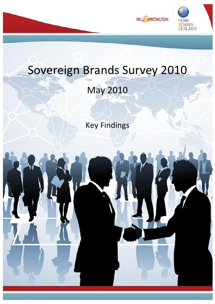 Sovereign Brands Survey 2010           May 2010             Key Findings