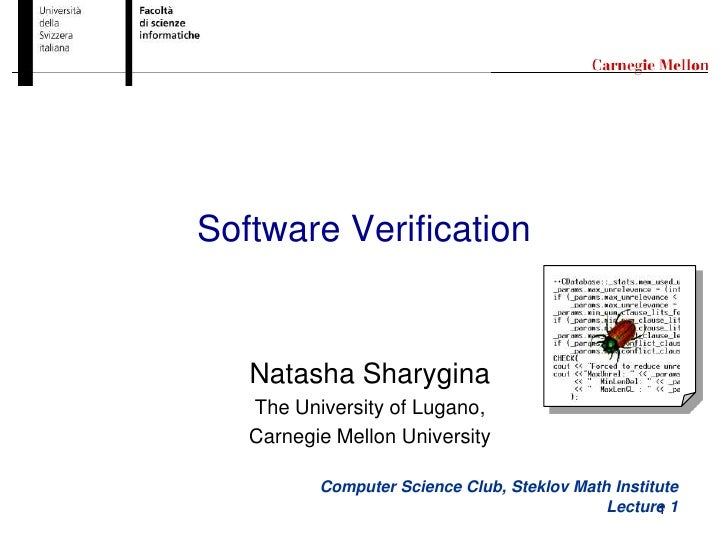 20100522 software verification_sharygina_lecture01