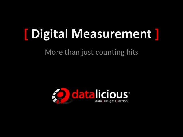 [ Digital Measurement ]      More than just coun.ng hits