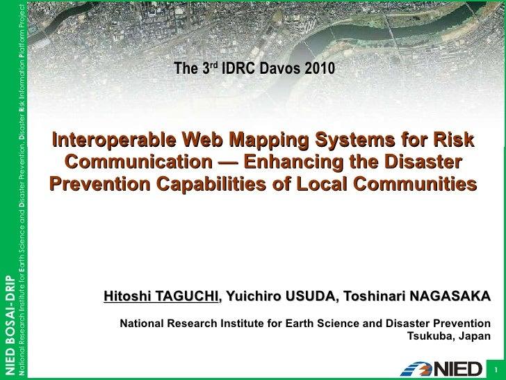 Hitoshi TAGUCHI , Yuichiro USUDA, Toshinari NAGASAKA National Research Institute for Earth Science and Disaster Prevention...