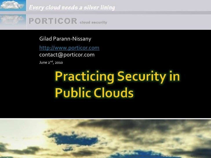 Practicing Security in Public Clouds