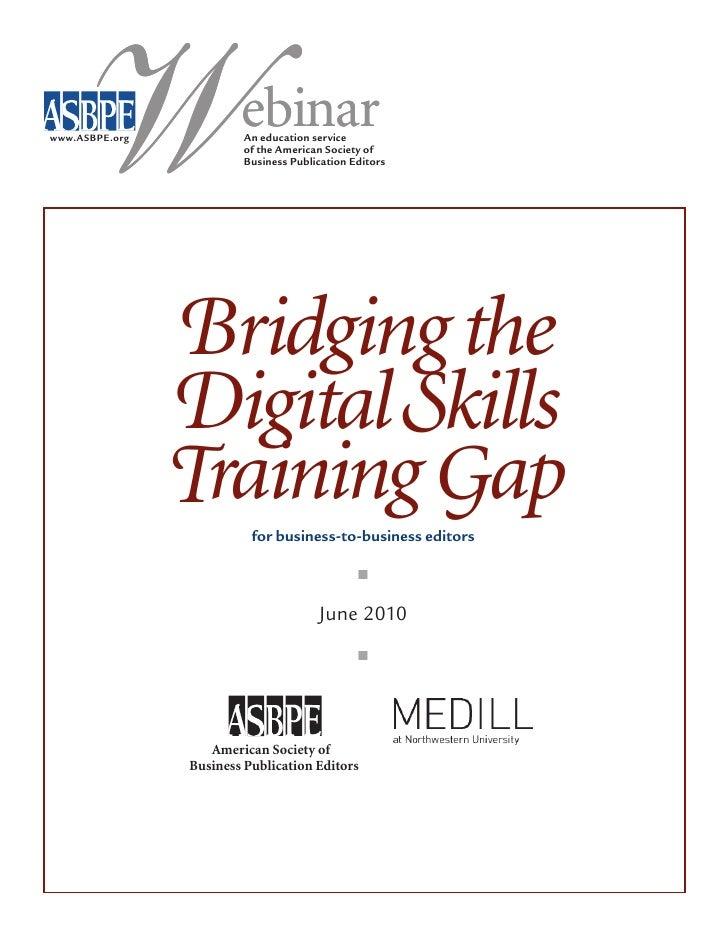 Bridging the Digital Skills Training Gap