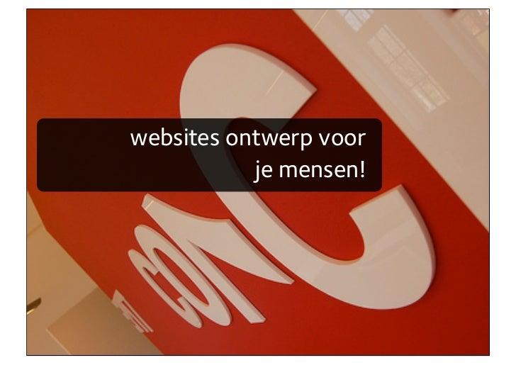 websites ontwerp voor            je mensen!