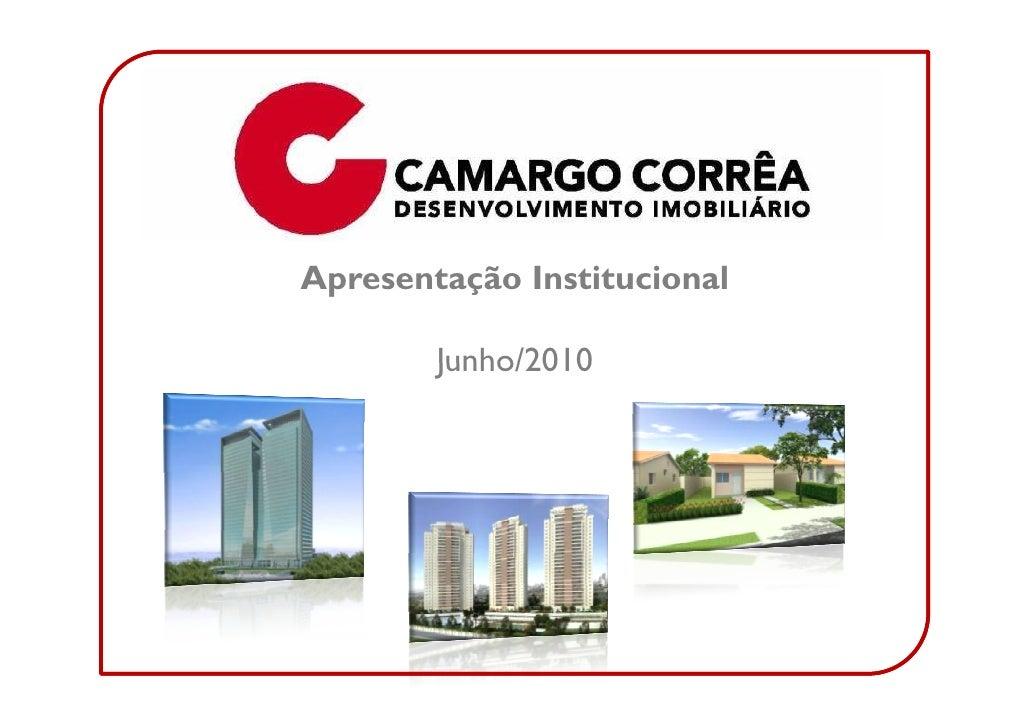 Apresentação Institucional          Junho/2010