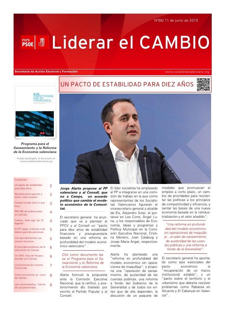Nº66/ 11 de junio de 2010                                     Liderar el CAMBIO Secretaría de Acción Electoral y Formación...