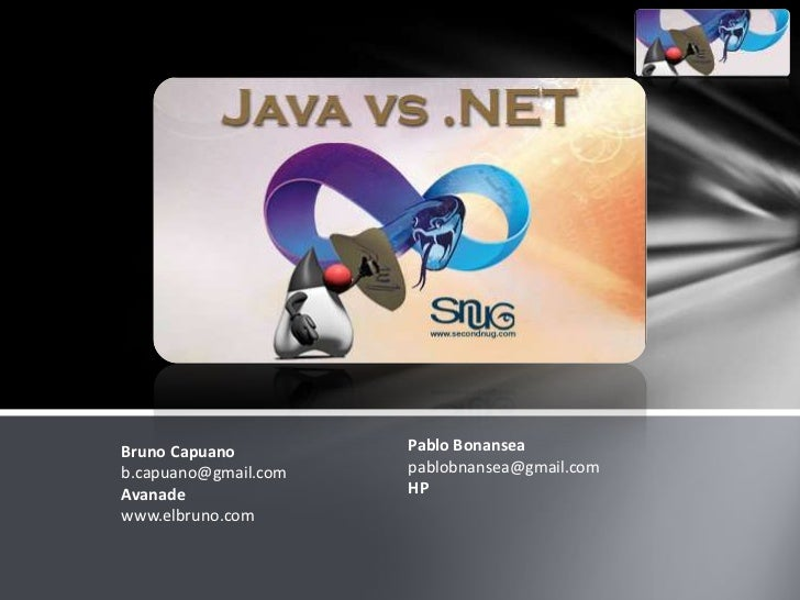 2010 06 15 SecondNug - JAVA vs NET