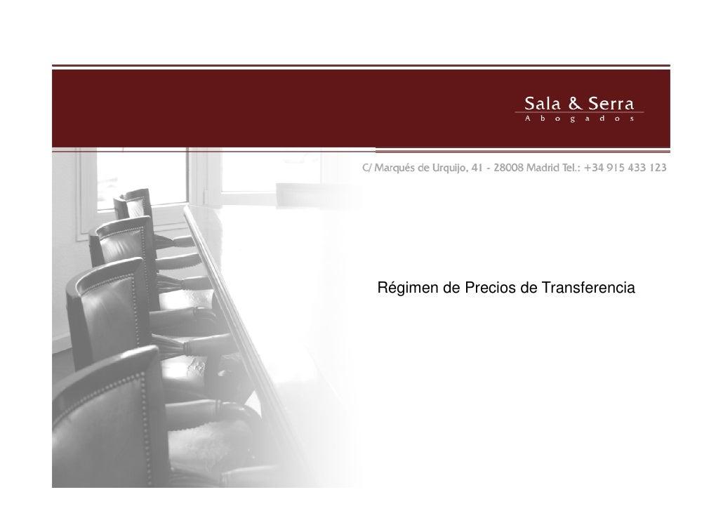 Régimen de Precios de Transferencia