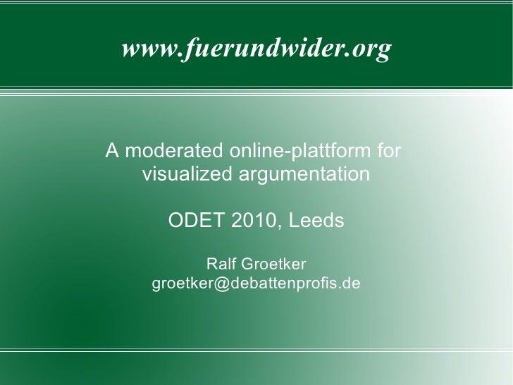 An online-plattform for facilitated argument visualization