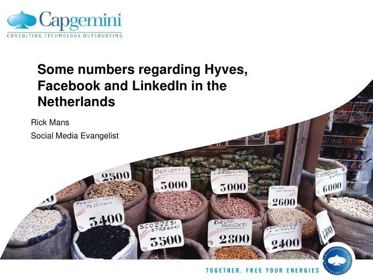 SomenumbersregardingHyves, FacebookandLinkedIn in theNetherlands<br />Rick Mans<br />Social Media Evangelist<br />