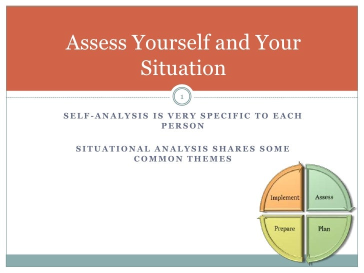 2. Assessing Yourself And Your Situation