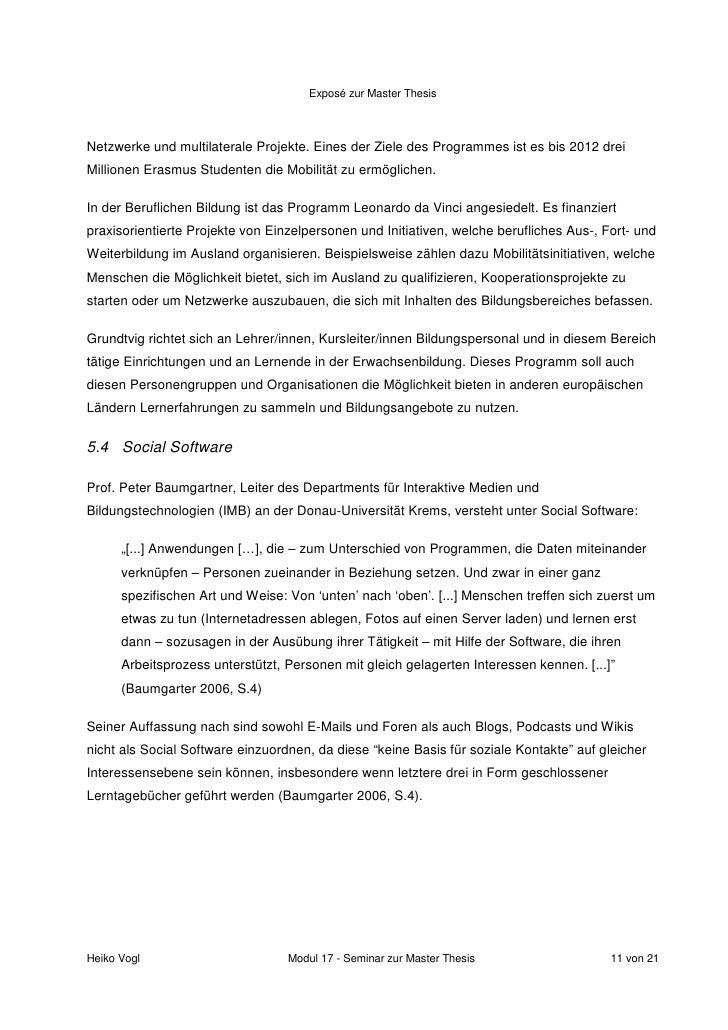 Dissertation Expose Gliederung