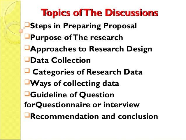 writing a research proposal 8 elements