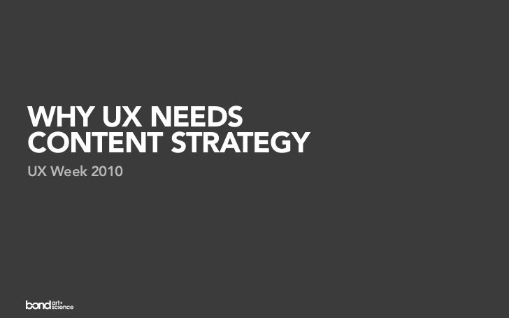 Why UX Design Needs Content Strategy