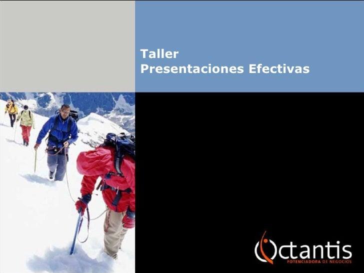 Taller Presentaciones Efectivas
