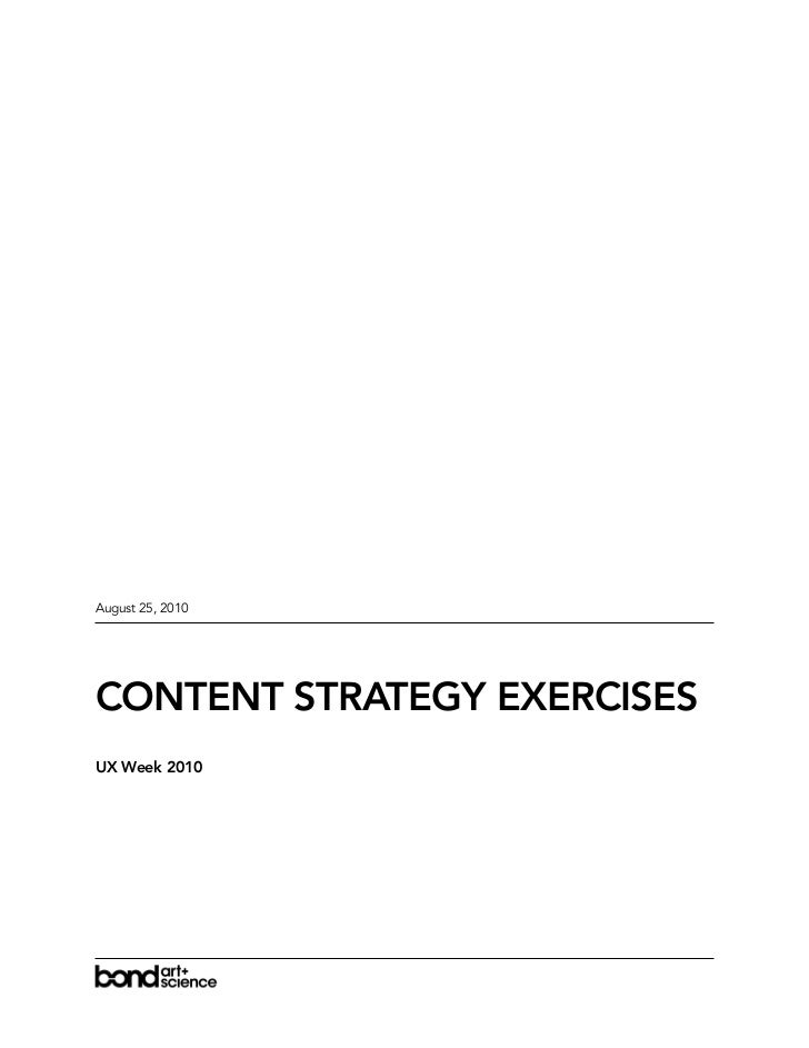 Handouts for Why UX Design Needs Content Strategy