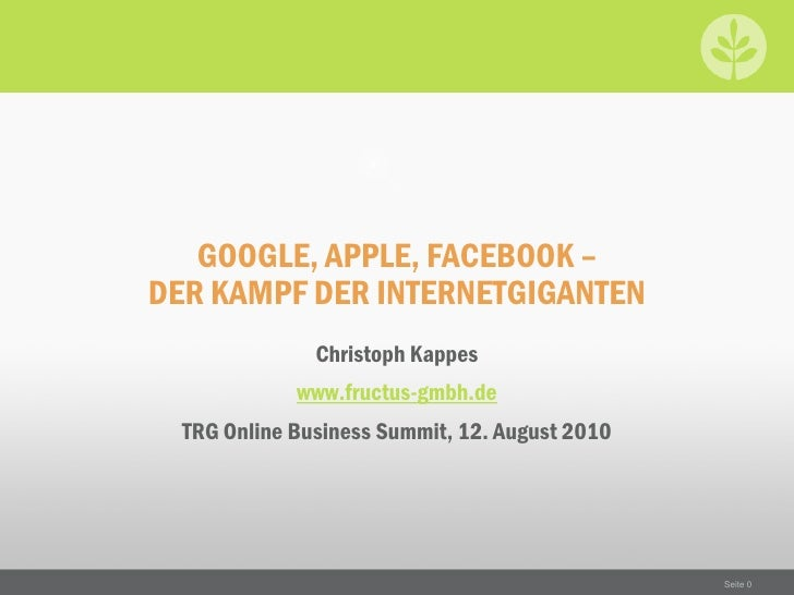 Google, Apple, Facebook - Der Kampf der Internetgiganten (pdf)