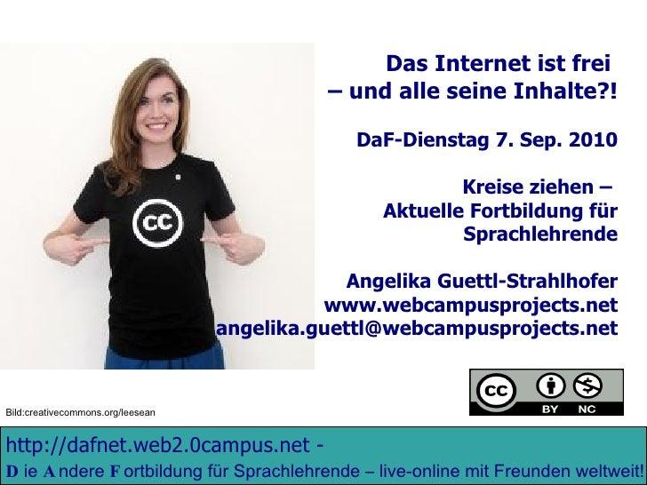 http://dafnet.web2.0campus.net  -   D ie  A ndere  F ortbildung für Sprachlehrende – live-online mit Freunden weltweit!  D...