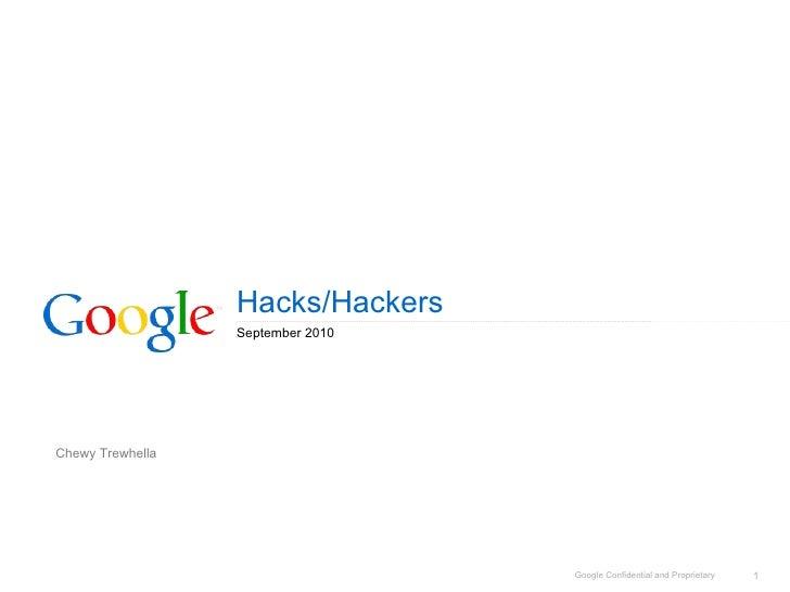 Google presentation to Hacks/Hackers London