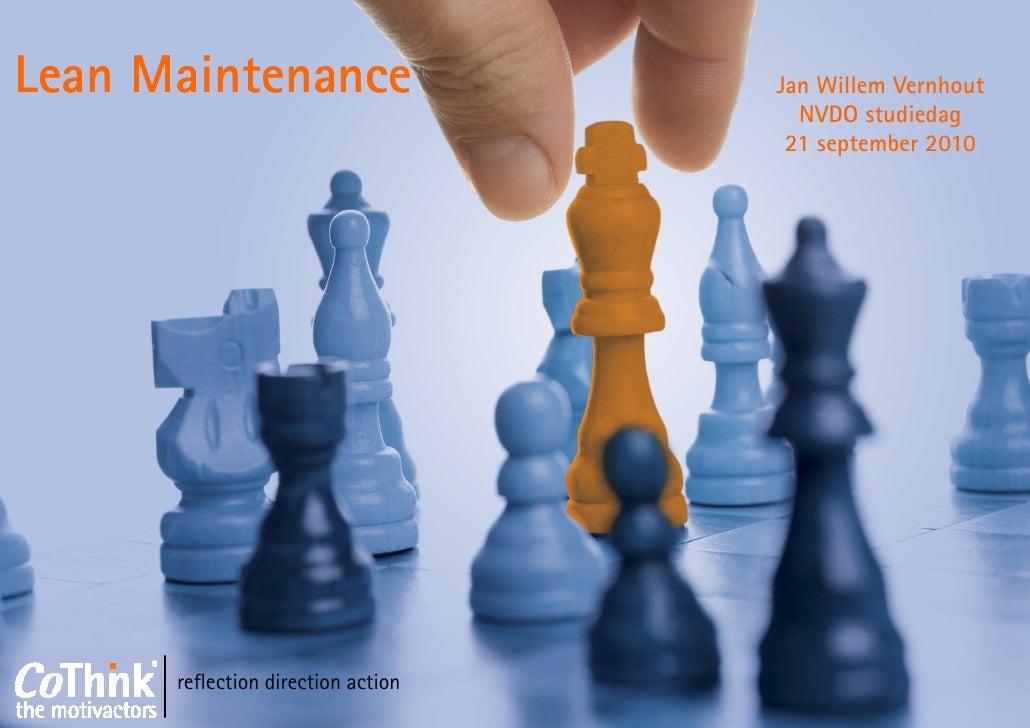 Lean Maintenance Presentatie Studiedag NVDO