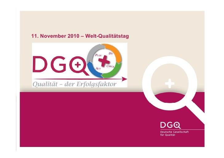 11. November 2010 – Welt-Qualitätstag