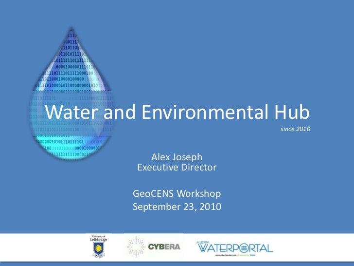 water and environmental hub - geo cens