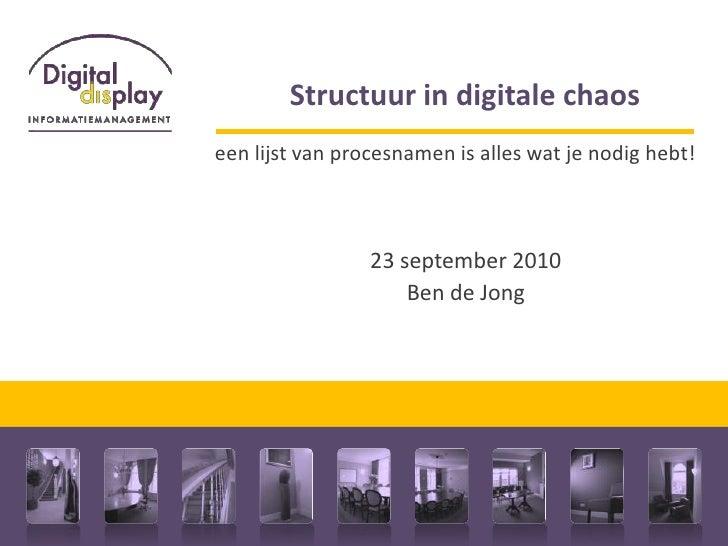 Structuur in digitale chaos: een lijst van procesnamen is alles wat je nodig hebt!