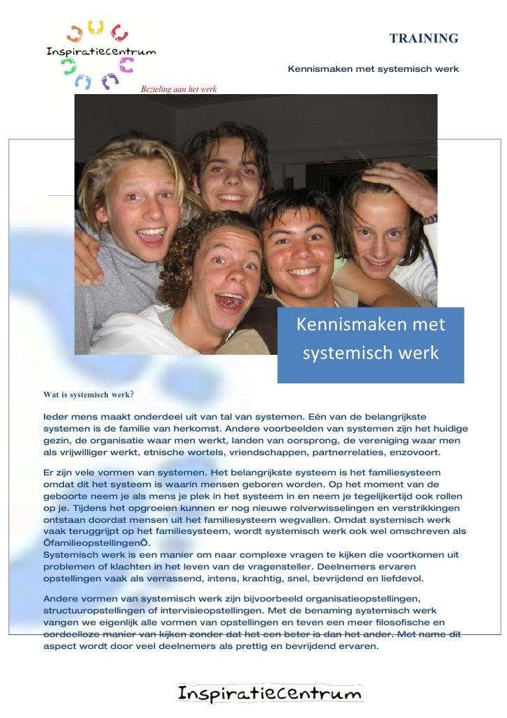 Kennismaken met Systemisch Werk