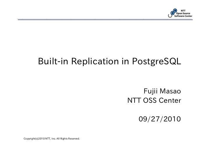 Built-in Replication in PostgreSQL
