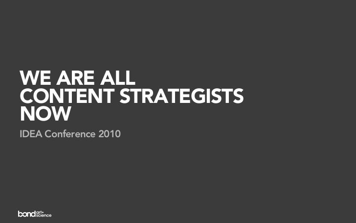 We are all content strategists now