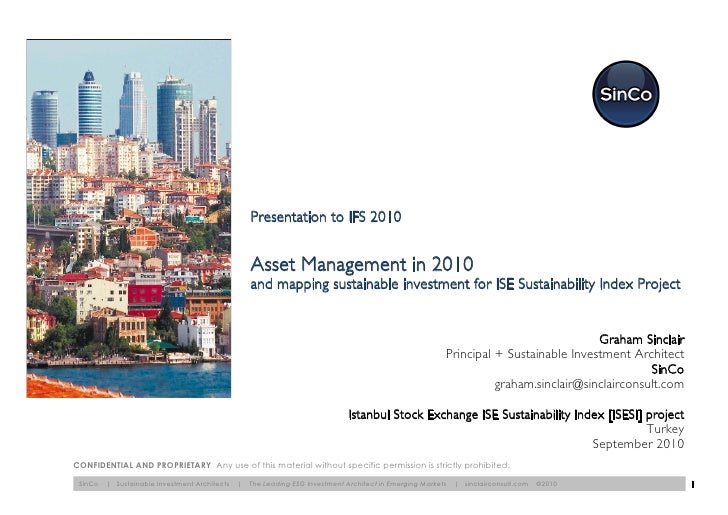Istanbul Stock Exchange Sustainability index project: what institutional investors want