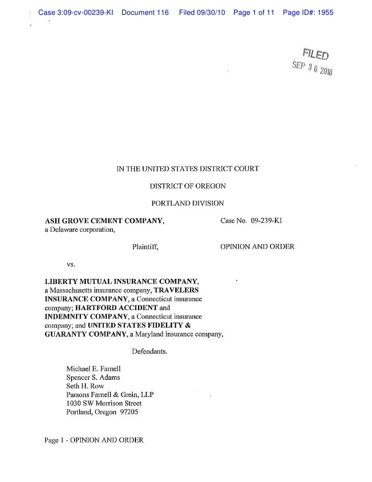 Case 3:09-cv-00239-KI    Document 116     Filed 09/30/10   Page 1 of 11    Page ID#: 1955                             IN T...