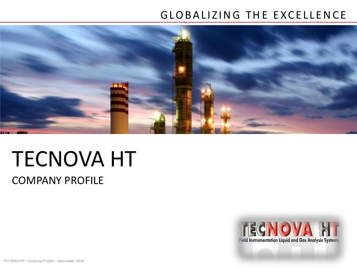 2012 TECNOVA HT Company Profile