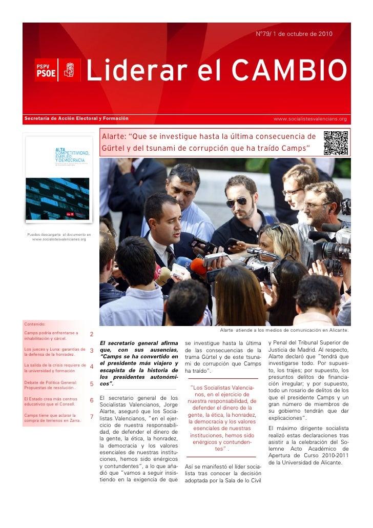 Nº79/ 1 de octubre de 2010                                      Liderar el CAMBIO Secretaría de Acción Electoral y Formaci...