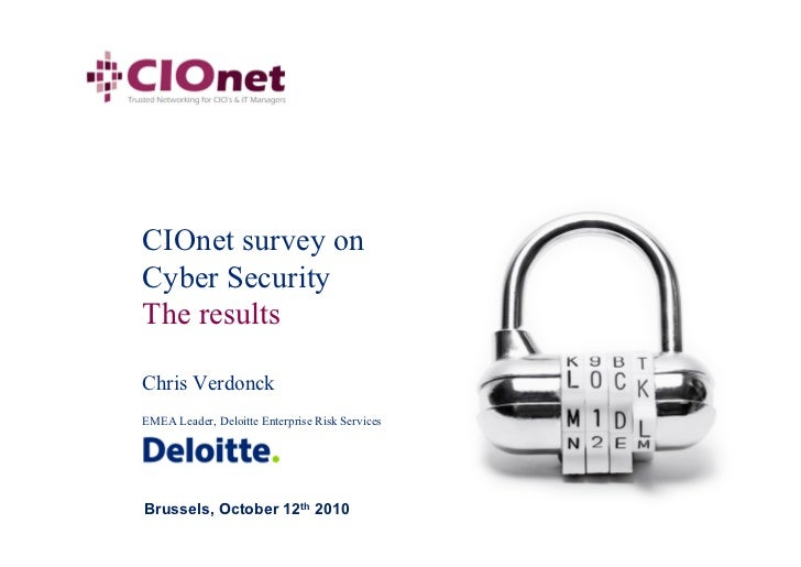 20101012 CIOnet Cyber Security Final Results