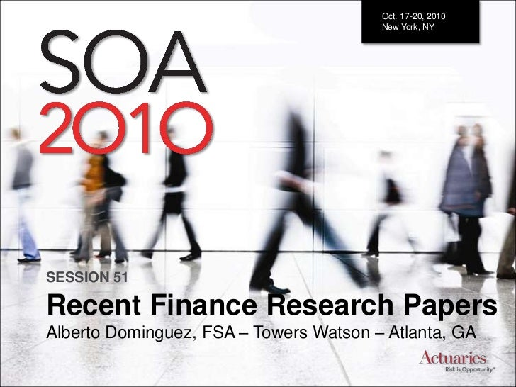 20101019 Recent Finance Research Papers