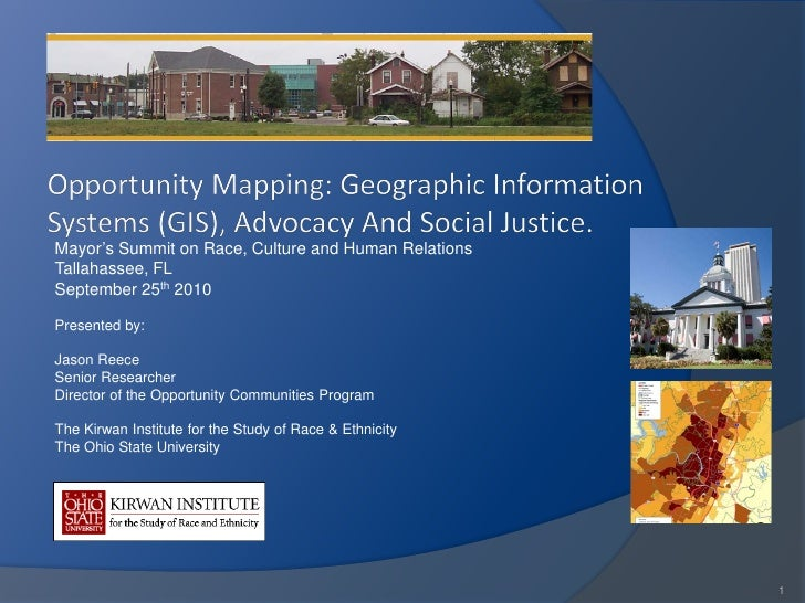 Opportunity Mapping: Geographic Information System (GIS), Advocacy And Social Justice