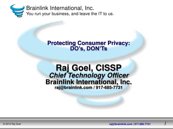 Brainlink International, Inc.                  You run your business, and leave the IT to us.                             ...