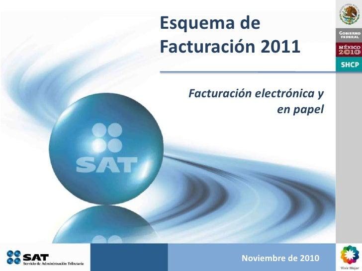 Esquema de Facturación 2011<br />Facturación electrónica y en papel<br />Noviembre de 2010<br />