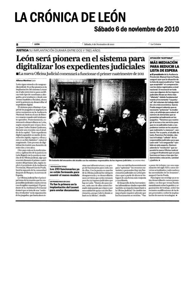 León será pionera en la digitalización de expedientes