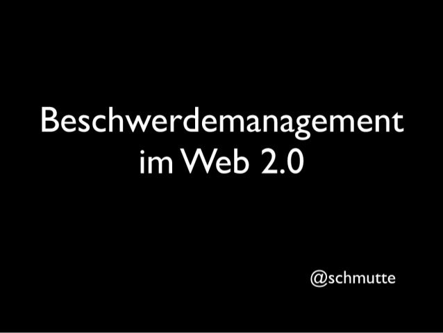 Beschwerdemanagement 2.0 #bchh10