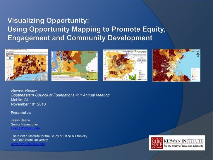 Visualizing Opportunity: Using Opportunity Mapping to Promote Equity, Engagement and Community Development