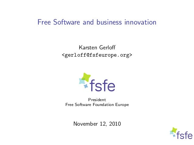Free Software and Business Innovation