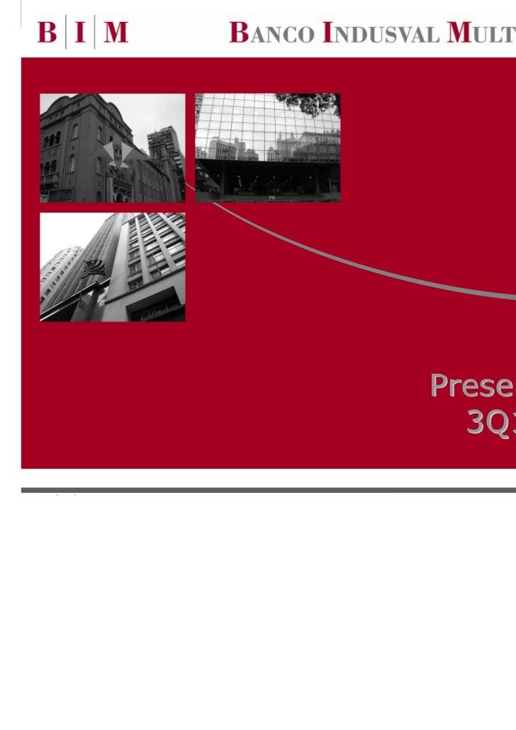 Presentation on  3Q10 Results                  0