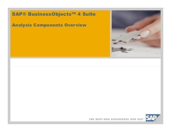 SAP BusinessObjects 4.0 WebIntelligence Overview