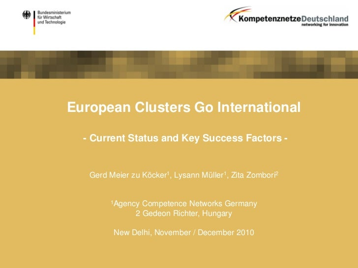 European Clusters Go International