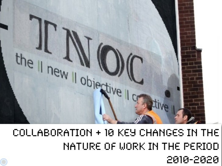 Collaboration + 10 Key Changes in the        nature of work in the period                           2010-2020