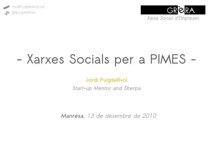 JordiPuigdellivol.cat@jpuigdellivol                                                        Xarxa Social dEmpreses   - Xarx...