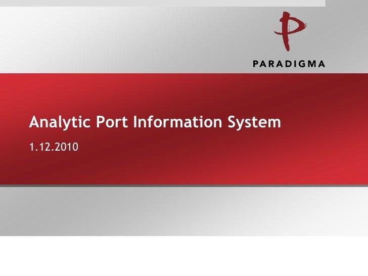 Analytic Port Information System1.12.2010