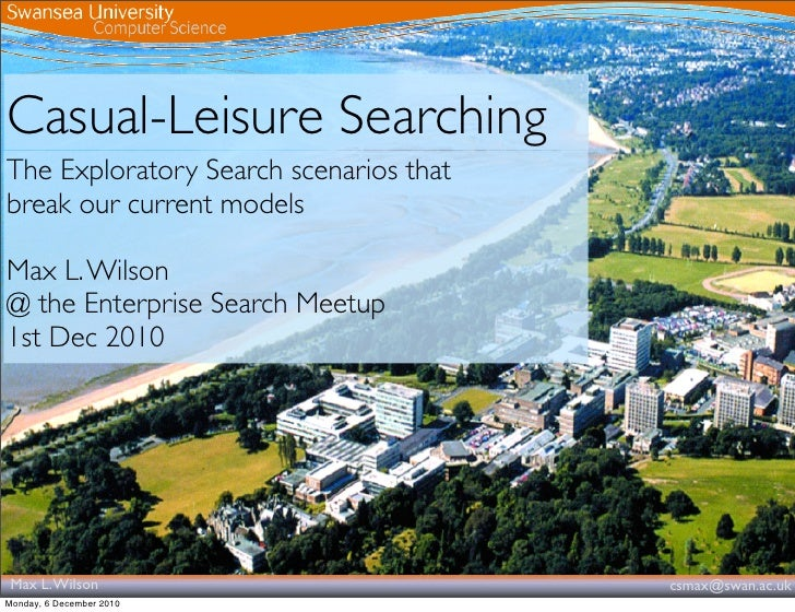 Casual-Leisure Search - Enterprise Search London Meetup