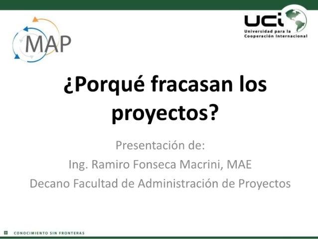 ¿Porqué fracasan los proyectos?